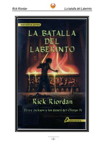Rick Riordan La batalla del Laberinto