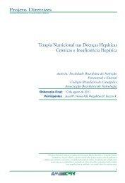 Terapia Nutricional nas Doenças Hepáticas ... - Projeto Diretrizes