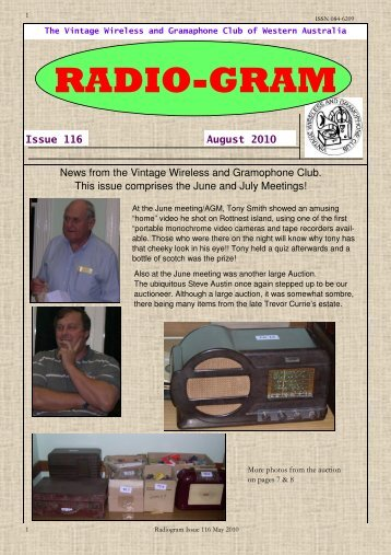 RADIO-GRAM - wirelesses and gramophones