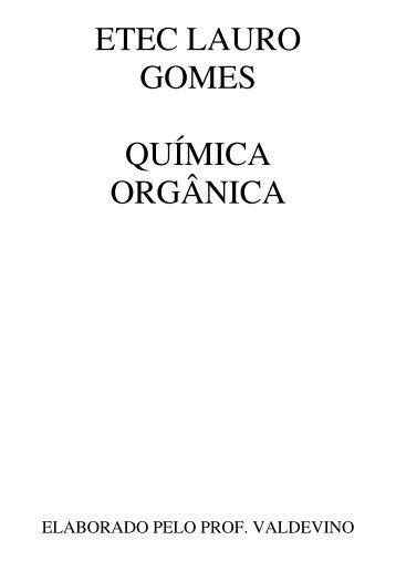 Apostila de Química Orgânica.pdf - escola técnica lauro gomes