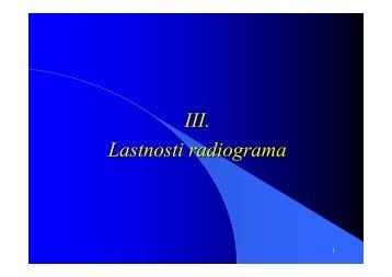 III. Lastnosti radiograma - F9