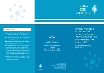 Guia de Apoio Braquiterapia Prostática com Implante Permanente