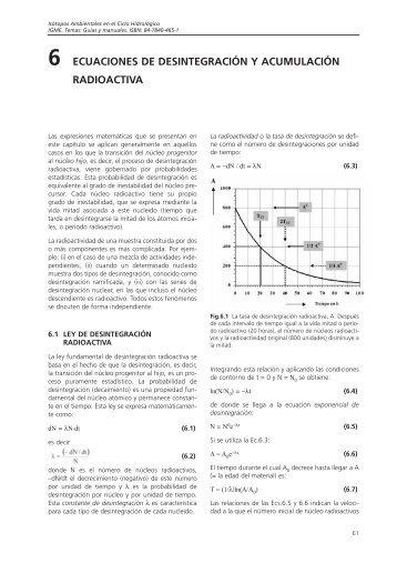 ECUACIONES DE DESINTEGRACIÓN Y ACUMULACIÓN ...