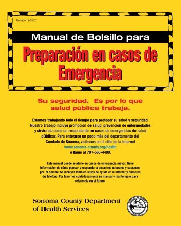 Manual de Bolsillo para Preparación en casos de Emergencia