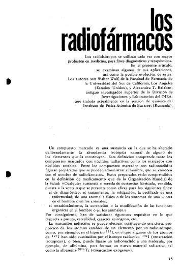 Los radioisótopos se utilizan cada vez con mayor profusión ... - IAEA