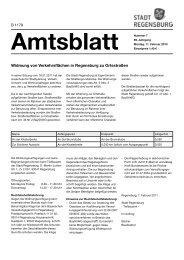 Amtsblatt 07 / 11.02.2013 - Stadt Regensburg