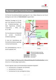 Merkblatt zum Kontrollschacht (pdf) - Stadt Regensburg