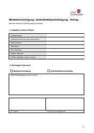 Melde-/Aufenthaltsbescheinigung - Antrag - Stadt Regensburg