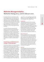 Artikel Managementplan 2010 - Stadt Regensburg