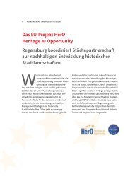Das EU-Projekt HerO - Heritage as Opportunity ... - Stadt Regensburg