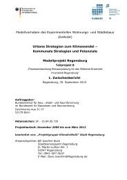 (ExWoSt) Urbane Strategien zum Klimawandel - Stadt Regensburg