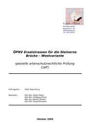 Westvariante spezielle artenschutzrechtliche ... - Stadt Regensburg