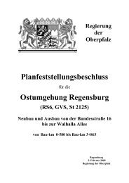 Planfeststellungsbeschluss - Regierung der Oberpfalz - Bayern