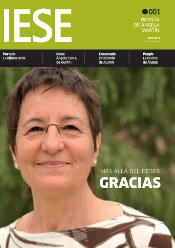 revista especialmente editada para Ángela - IESE Business School