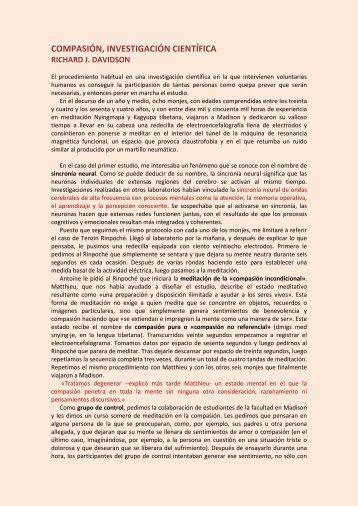 COMPASIÓN, INVESTIGACIÓN CIENTÍFICA - Escuela de Meditación