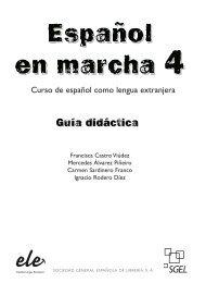 Curso de español como lengua extranjera