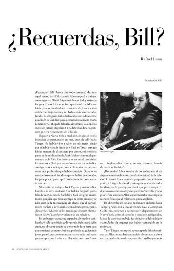 Rafael Luna - Revista de la Universidad de México