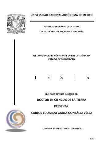 Garza González Vélez Carlos Eduardo - Centro de Geociencias ...