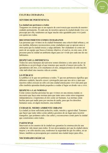 servicio colombiano de desarrollo social- sercoldes- periódico pizarra