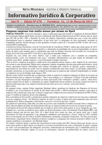 Ano VI – Edição Nº 678 – Fortaleza - Ce, 11 de Março de ... - SIMEC
