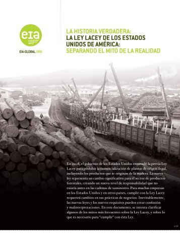 LA HIstORIA VERdAdERA: LA LEy LAcEy dE LOs EstAdOs UnIdOs ...