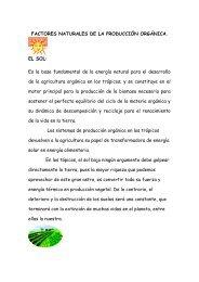 Factores Naturales de la Produccion Organica - BioTU