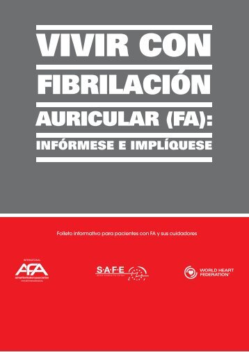 Vivir con Fibrilación auricular (FA): infórmese e implíquese