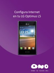 Configura Internet en tu LG L5 - Ono