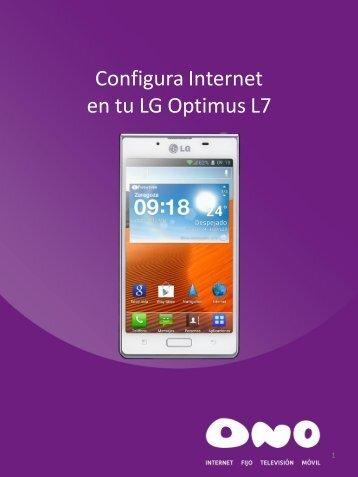 Configura Internet en tu LG L7 - Ono