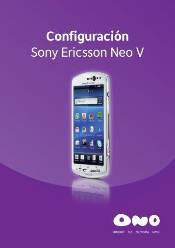 Configuración Sony Ericsson Neo V - Ono