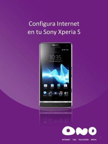 Configura Internet en tu Sony Xperia S - Ono