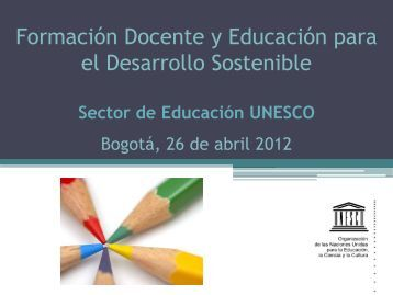 UNESCO Formación docente y EDS - Formadoreds.org