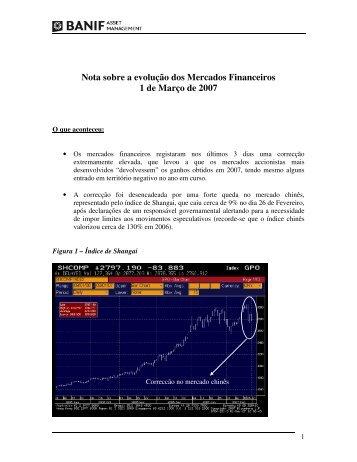 Nota sobre a evolução dos Mercados Financeiros 1 de ... - Banif