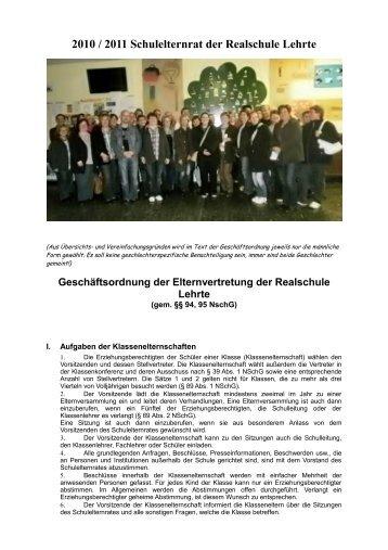 2010 / 2011 Schulelternrat der Realschule Lehrte