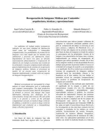 Recuperación de Imágenes Médicas por Contenido - Universidad ...