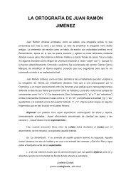 la ortografía de juan ramón jiménez - Doña Blanca de Navarra