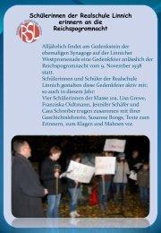 Gedenkfeier - Realschule Linnich