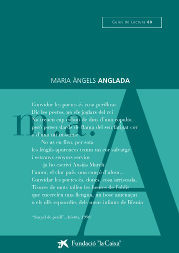 """Anglada, Mª Àngels - Obra Social """"la Caixa"""""""