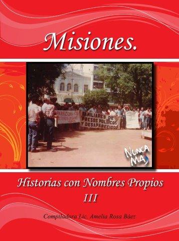 misiones, historias con nombres propios - Ministerio de Derechos ...