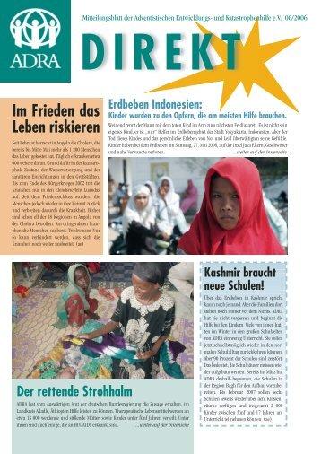 Im Frieden das Leben riskieren DIREKT Erdbeben Indonesien - Adra