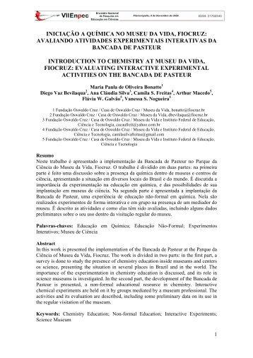 avaliando atividades experimentais interativas da ... - FaE - UFMG