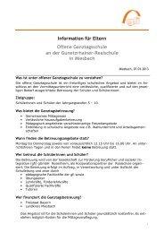 Elternrundbrief Nr. 4 - Offene Ganztagsschule - Realschule ...