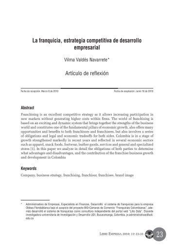 La franquicia, estrategia competitiva de desarrollo empresarial
