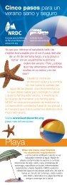 NRDC: Cinco pasos para un verano sano y seguro (pdf) - Natural ...