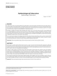 Epidemiologia da Tuberculose - Sopterj