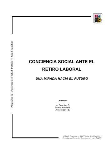 4 Conciencia Social ante el retiro laboral. Una mirada hacia el futuro.