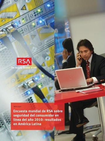 Encuesta mundial de RSA sobre seguridad del consumidor en línea ...
