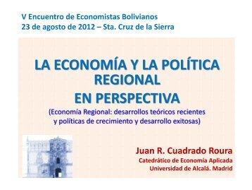 La economía y la política regional en perspectiva - Banco Central de ...