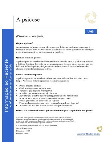 Psychosis - University Health Network