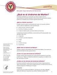 ¿Qué es el síndrome de Marfan?